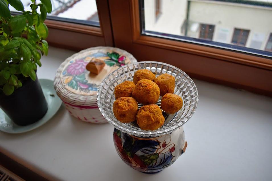 Sunny sweet potato falafels.