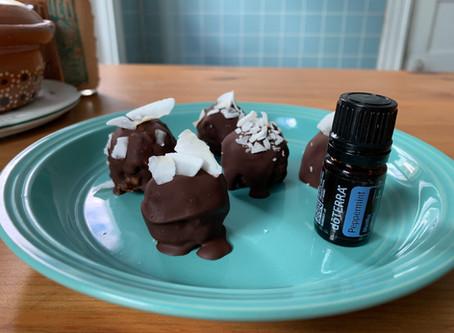 Decadent Peppermint Hot Chocolate Truffles