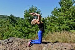 Yoga at Blue Hills Reservation, MA.