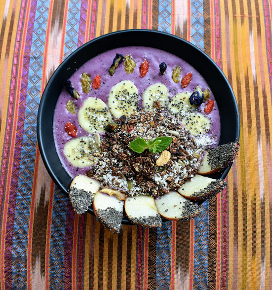 An Acai Smoothie Bowl from Nourish Cafe in Yangon, Myanmar