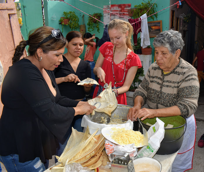 Tamales cooking lesson in Mexico.