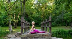 Yoga in Giant City in Makanda, Illinois.