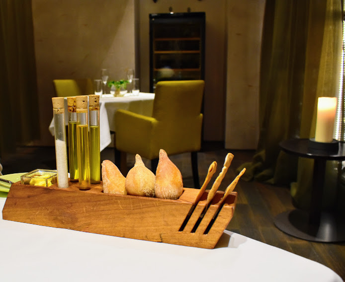 Creatively-designed breads at Tian Restaurant.