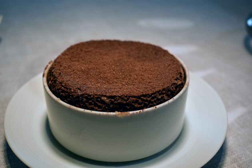 Chocolate-Ligonberry Soufflé