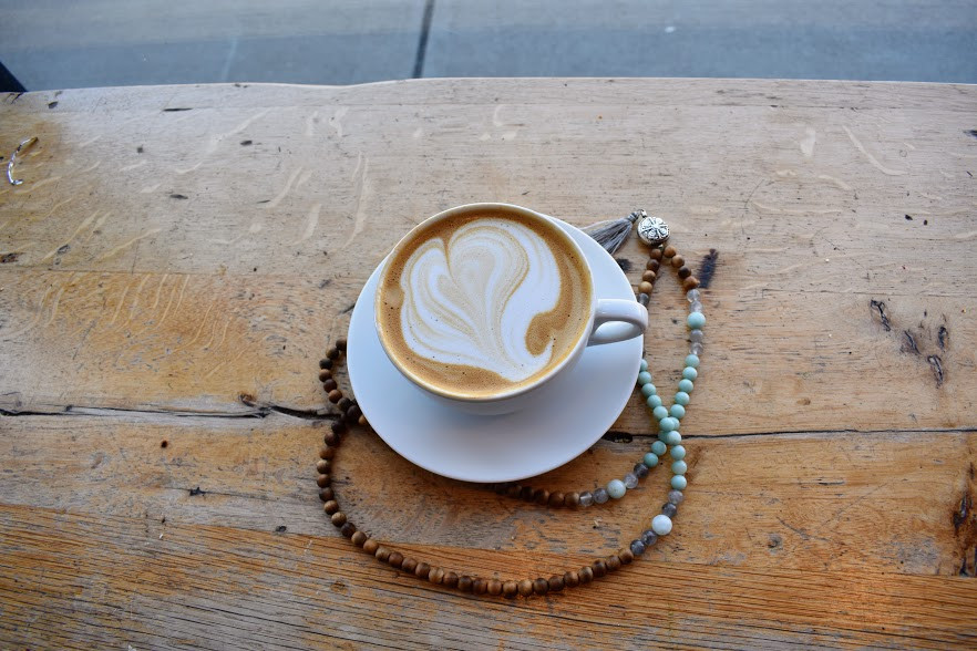 A latte heart at Boston's Pavement Coffeehouse