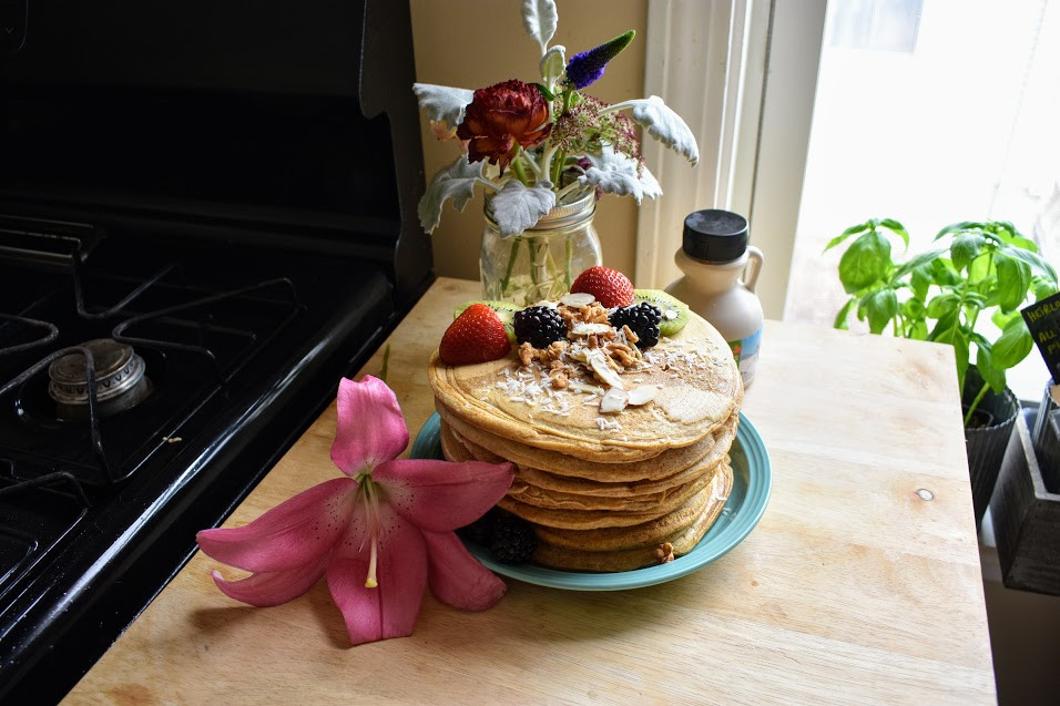 Vegan Almond Pancakes