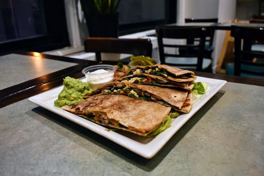 Vegan Quesadilla at Jivamuktea Café