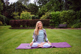 Yoga in West Sussex, England.