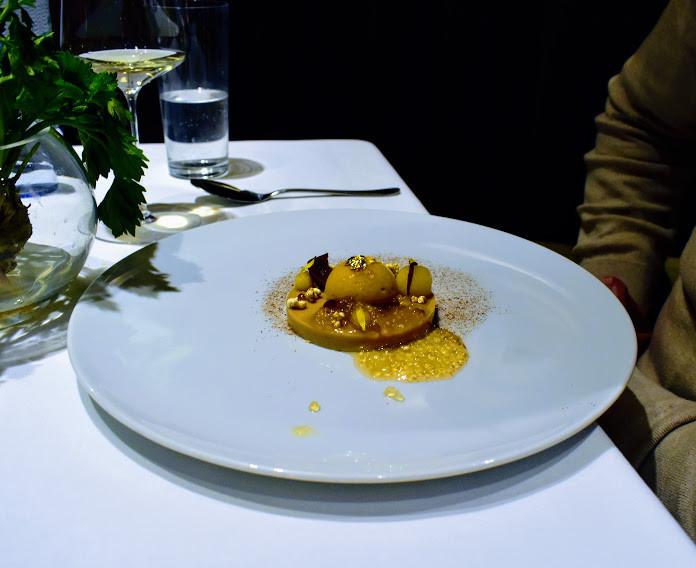 Awe-inspiring apple tarte tatin at Tian Restaurant.