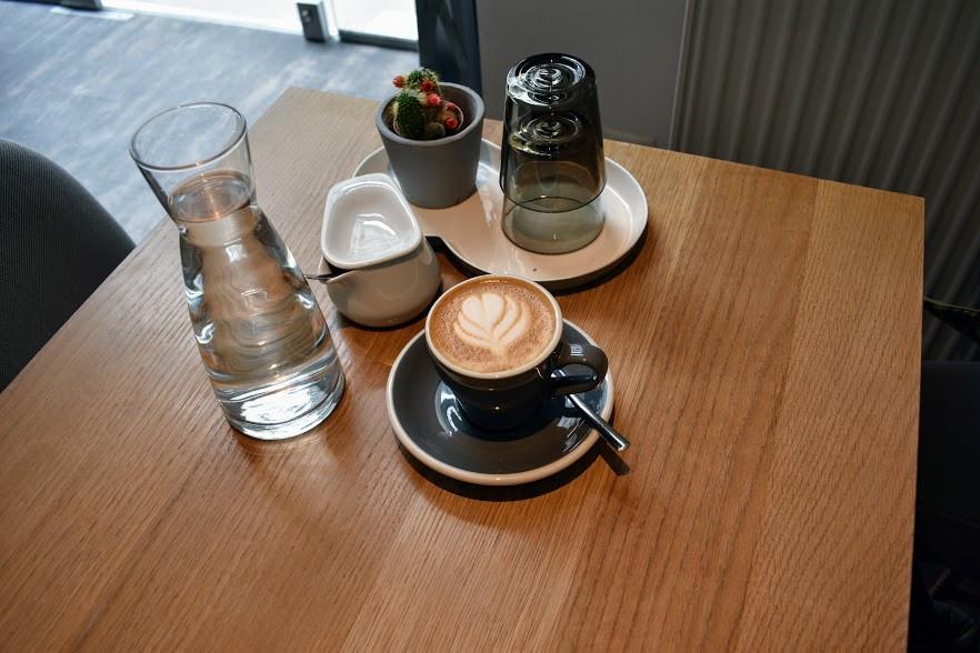 A cappuccino at Café EL.AN