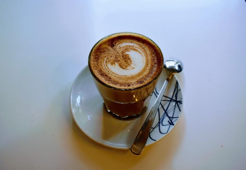 A dirty chai at Coffee Pirates