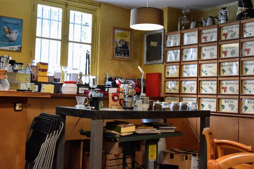 Our workspace at La Caféothèque