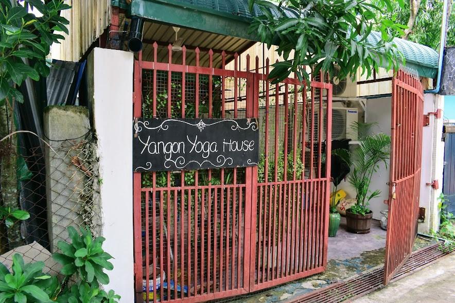 The open door of Yangon Yoga House