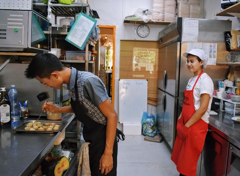 Wal Lin and Cherr Y, creating their magic at Nourish Café.