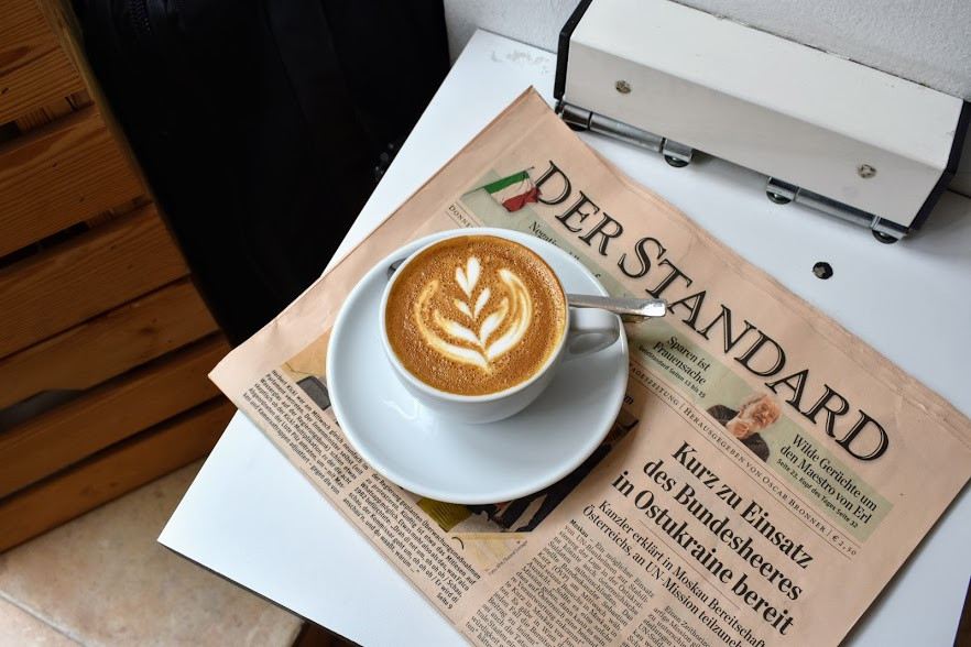 A cappuccino at Kaffeefabrik