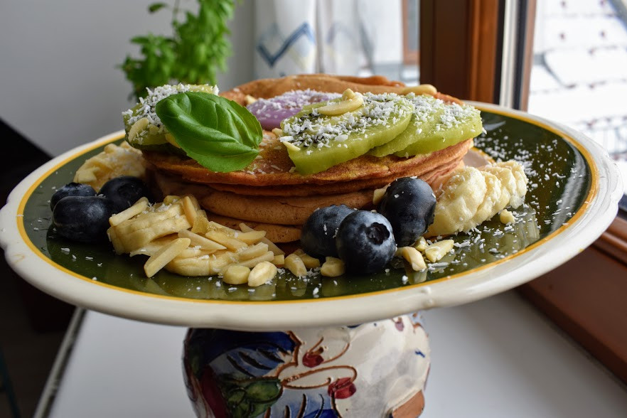 Vegan Lemon Flaxseed Pancakes