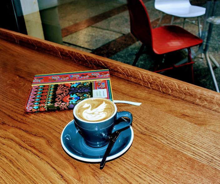 A cappuccino at CafféCouture