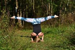 Yoga at Green Earth's Chautauqua Bottoms.