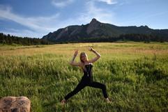 Yoga in Boulder, CO.