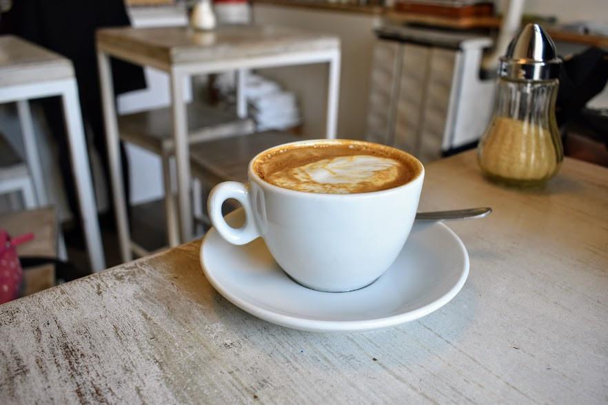 A cappuccino at Kaffeemodul