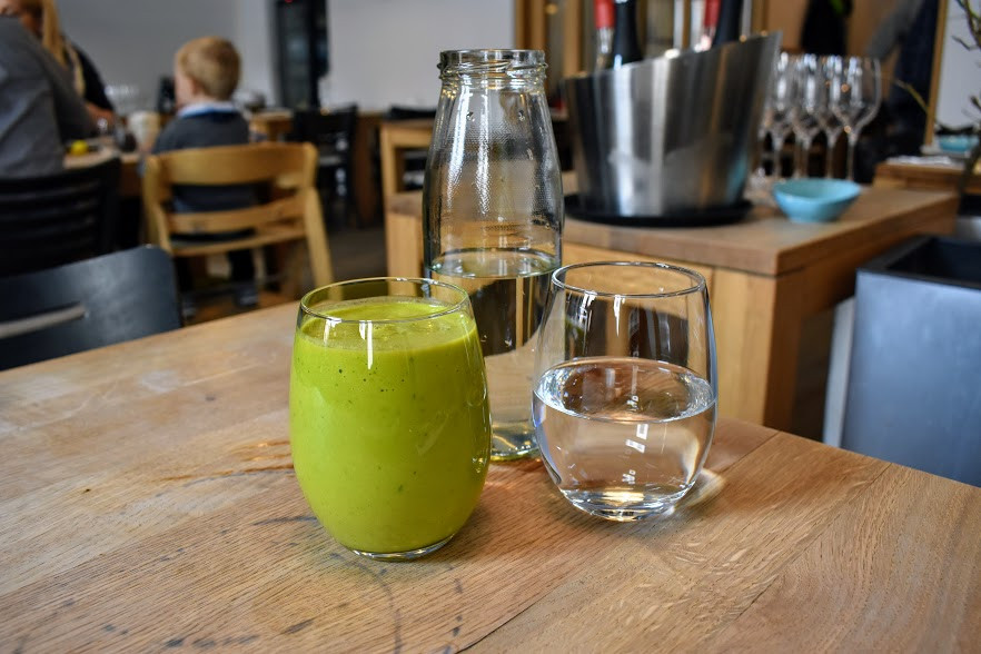 Green Smoothie for breakfast at Tian Bistro.