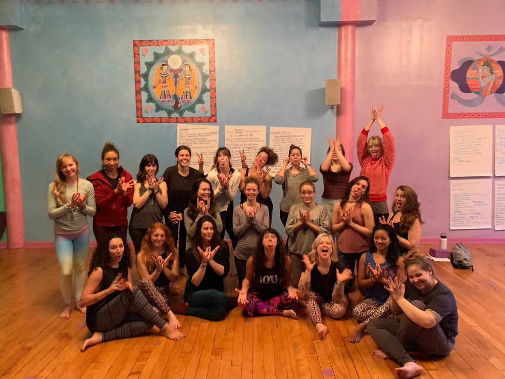 Our graduating class of Lotus Flow yogis