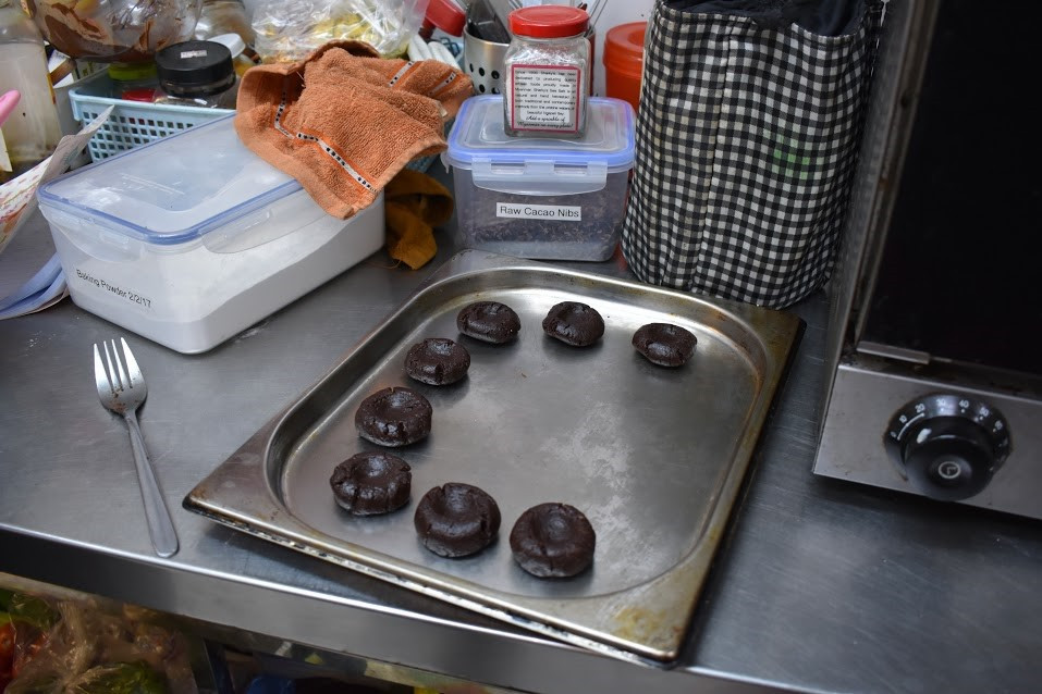 Thumbprint cookies in the making