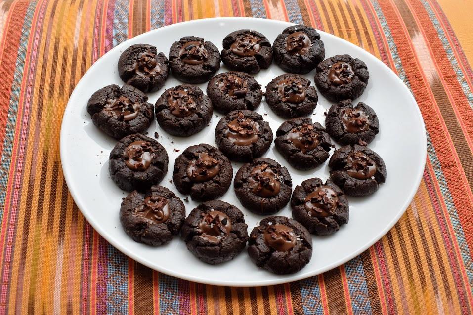 Beyond the bar: Vegan chocolate thumbprint cookies