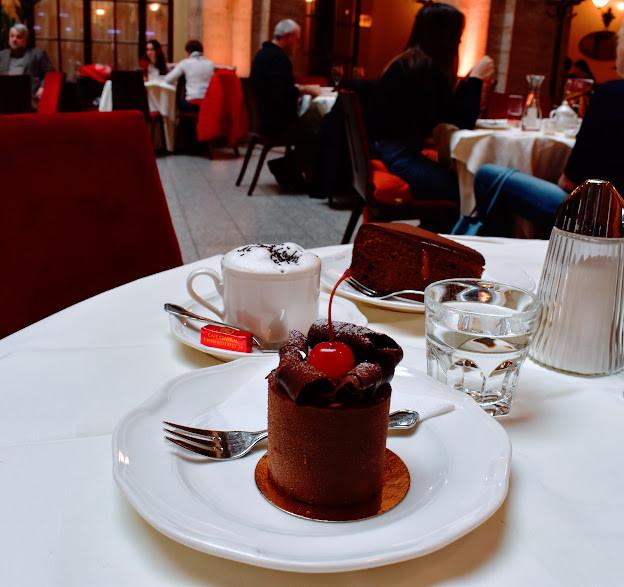 Cappuccino, Sachertorte, & more at Café Cetral.