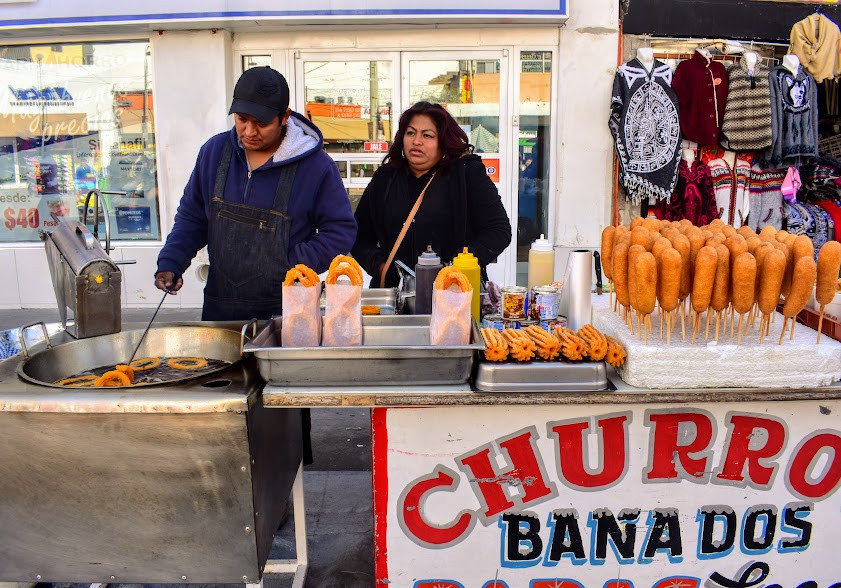 Churros for sale in Mexico.