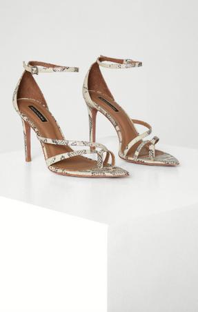 Snakeskin Stiletto Sandal