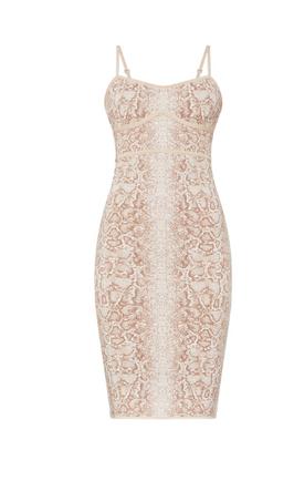 Snakeskin Cocktail Dress
