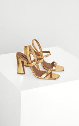 Metallic Slingback Sandal