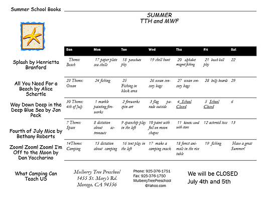 tth-mwf summer 2019 newsletter calendar.