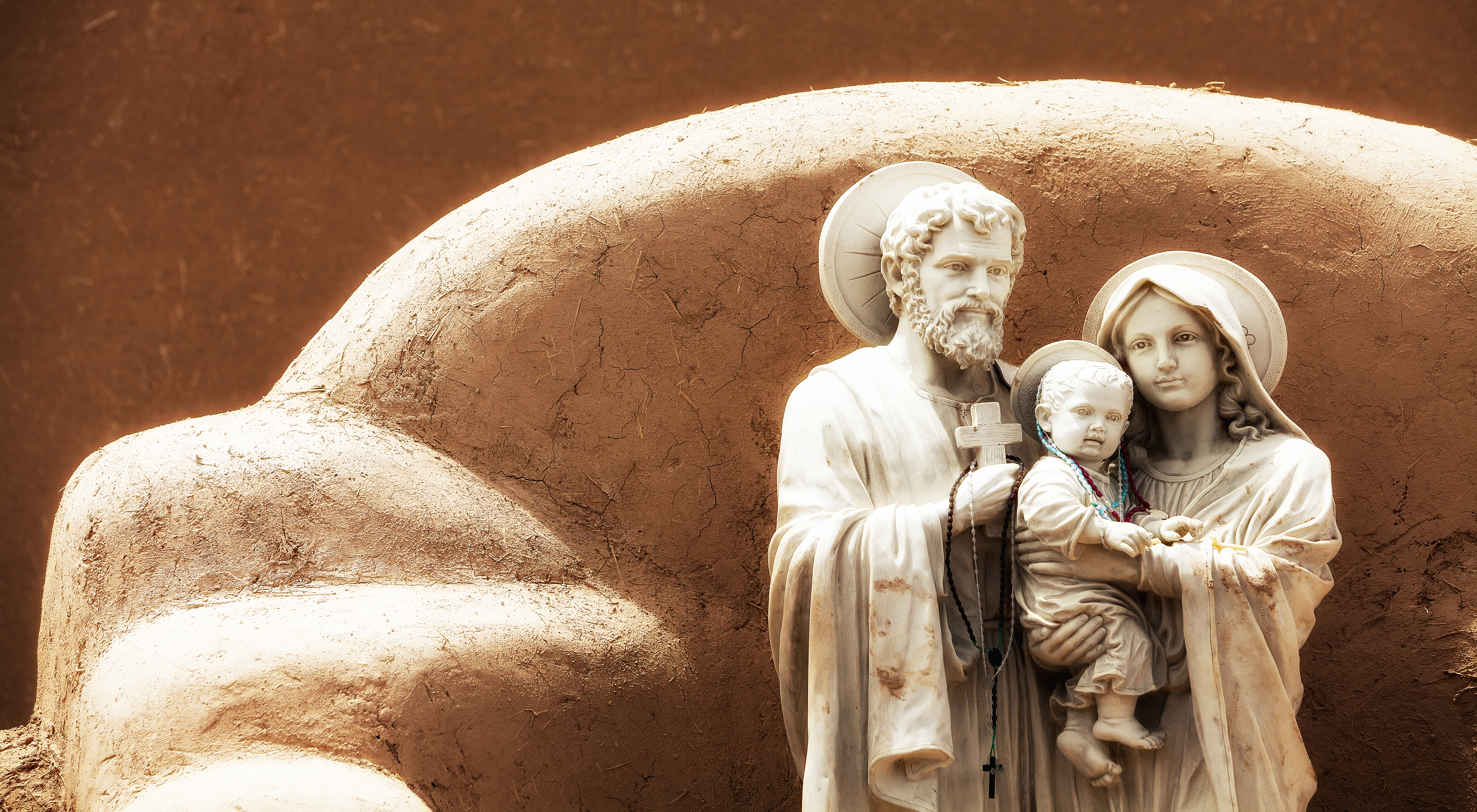 Joseph, Baby Jesus And Mother Nature