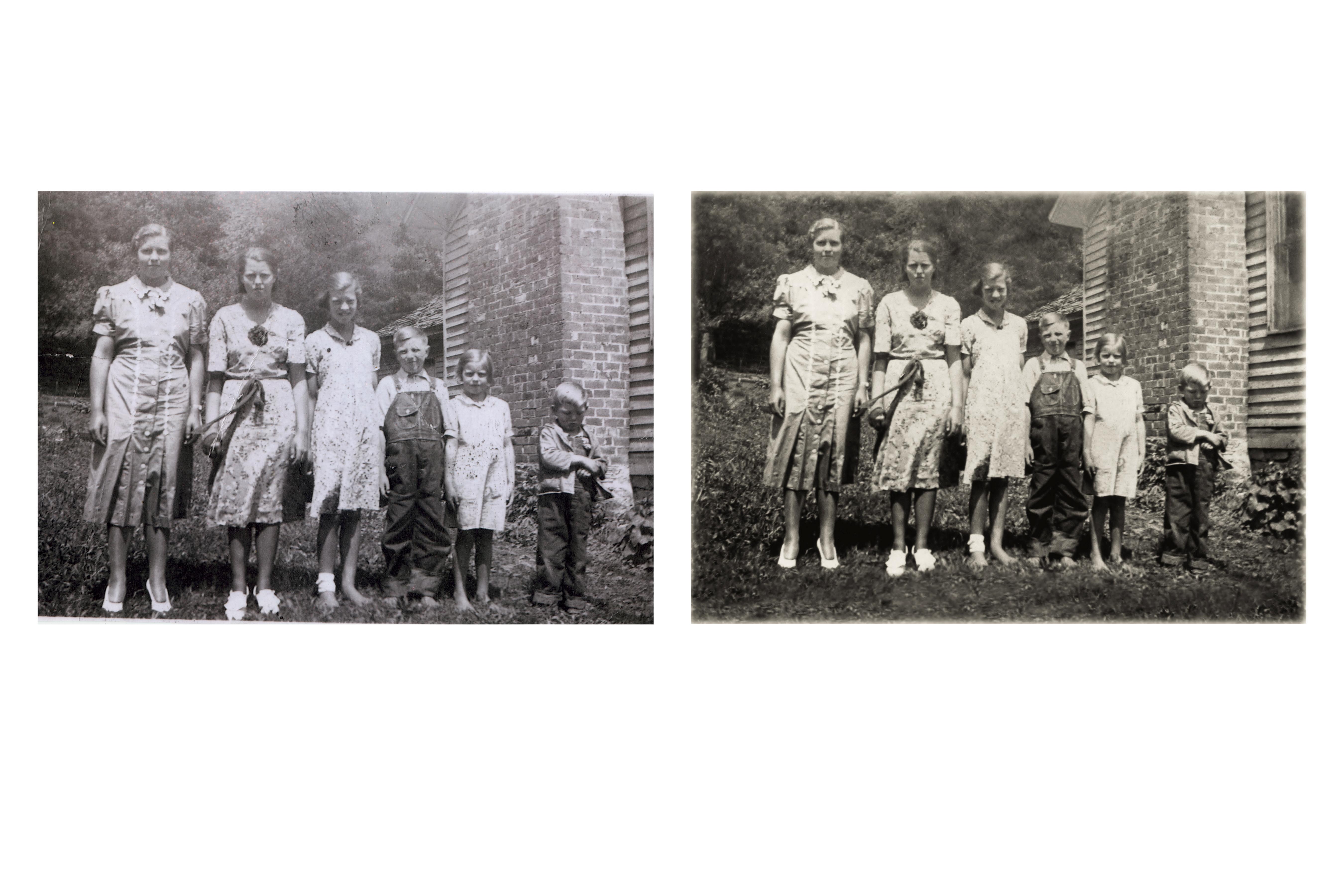 Elsie Haynes with Brothers & Sisters