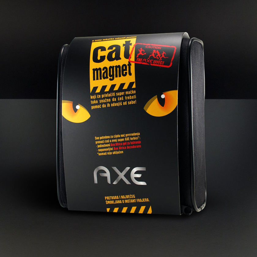Axe cat magnet