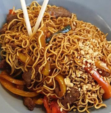 Noodles Thai con abanico Ibérico
