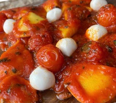 Raviolis de higo y pecorino