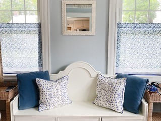 Blue and white rooms in my home