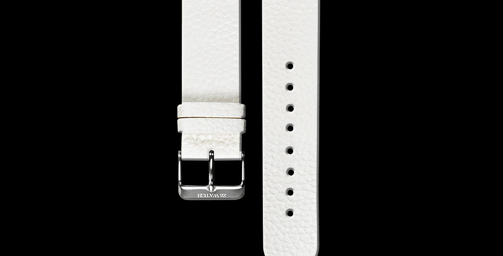 EMBOSSED LEATHER|WHITE