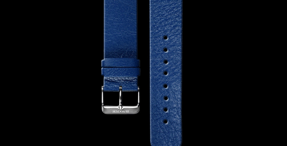 EMBOSSED LEATHER|BLUE