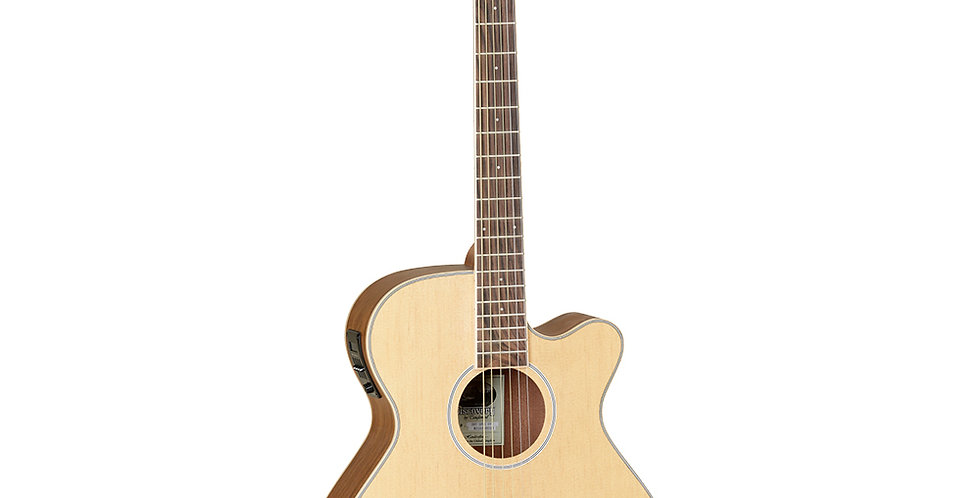 Tanglewood Super Folk Cutaway Electro Acoustic, Ovangkol Back and Sides