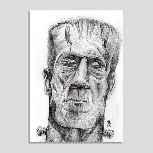 Frankenstein (Poster A4 PVC Autoadesivo)
