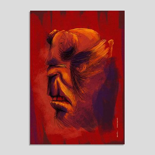 Hellboy (Poster A4 PVC Autoadesivo)