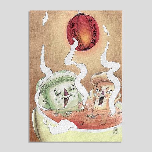 Cogumelos (Poster A4 PVC Autoadesivo)