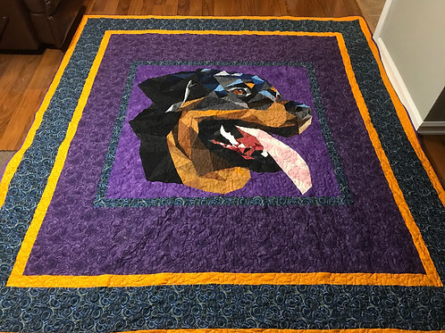 Rottweiler Queen size Quilt **Display only**
