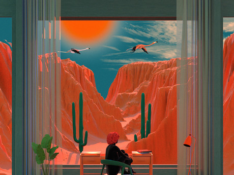 Tishk Barzanji Immerses Virgin Hotel Guests with a Surrealist View of the Nevada Desert