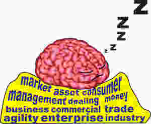 A brain sleeps on its passive business English vocabulary