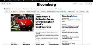 Bloomberg Webseite